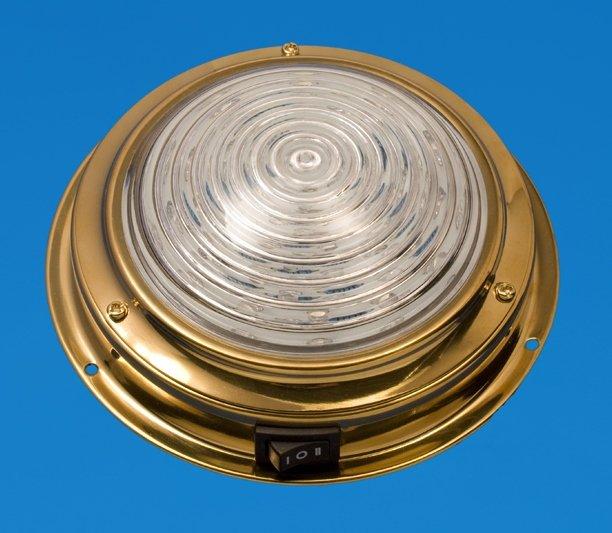 interierové LED světlo k lodi 13,5 cm mosaz