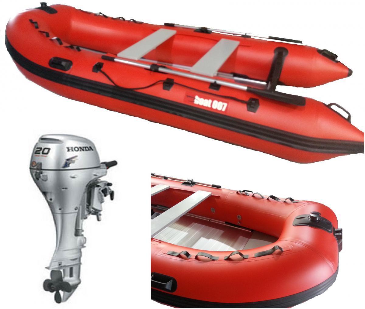 Nafukovací člun D380 + motor Honda BF 20
