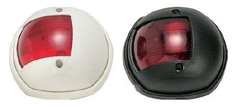 Červené navigační světlo kulaté červené světlo s černou krytkou