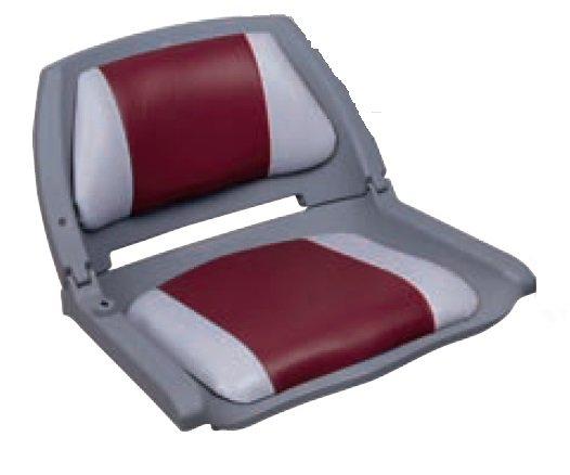 sedačka do člunu šedo - červená - 73